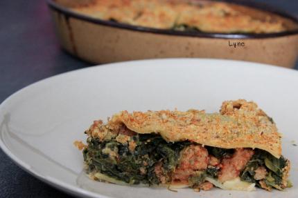 lasagne épinard et protéines de soja